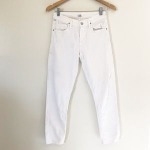 Citizen of Humanity white skinny jeans size 26